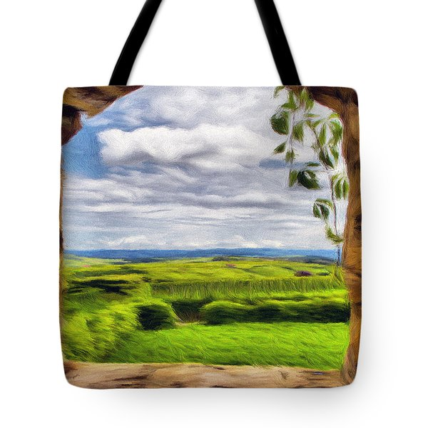Outside The Fortress Wall Tote Bag by Jeff Kolker