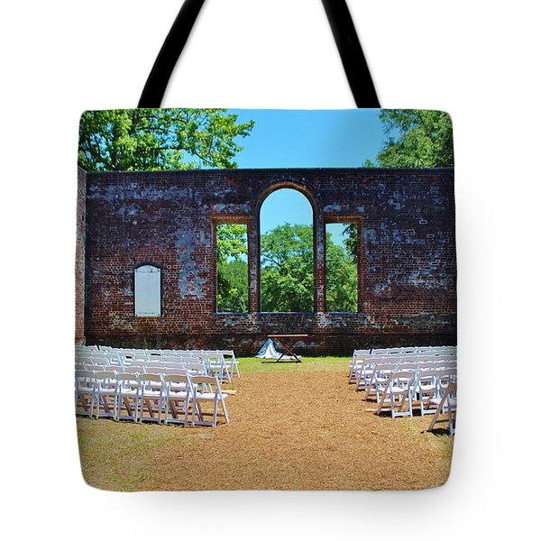 Outside Wedding Tote Bag by Cynthia Guinn