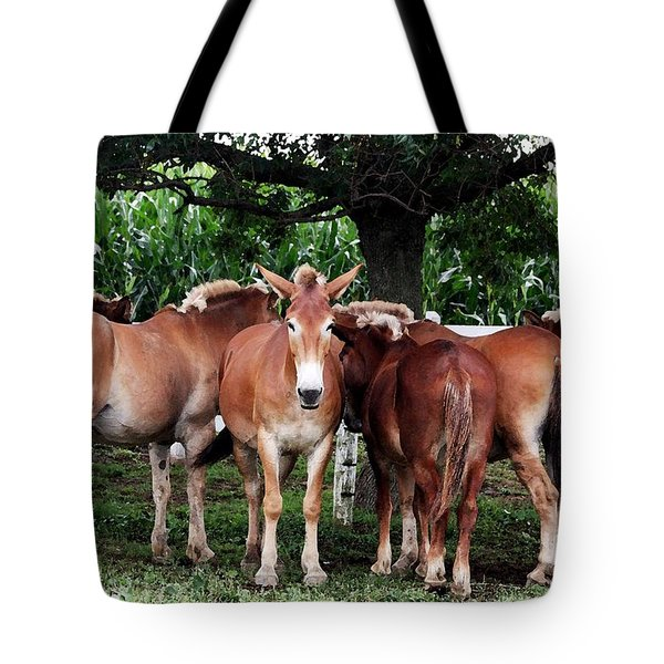 Tote Bag featuring the photograph Outstanding In Your Field by Polly Peacock