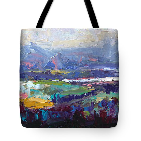 Overlook Abstract Landscape Tote Bag