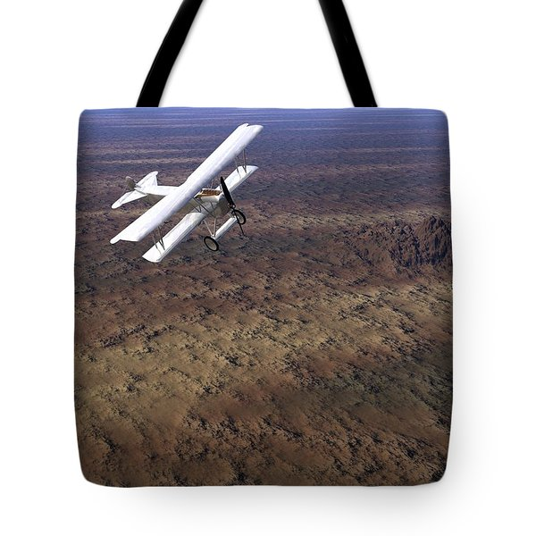 Tote Bag featuring the digital art Over Arizona by John Pangia