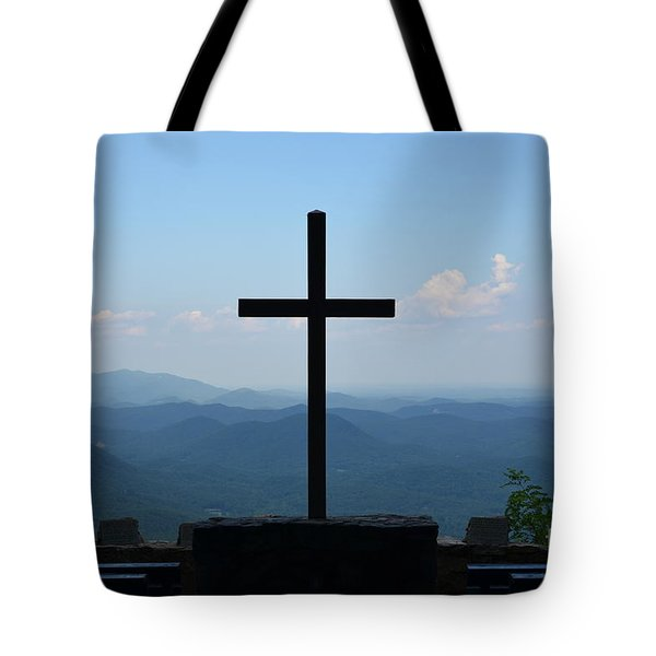 Tote Bag featuring the photograph Over Looking His Creation by Bob Sample