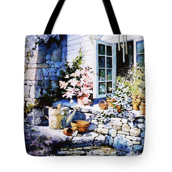 Over Sleepy Garden Walls Tote Bag by Hanne Lore Koehler