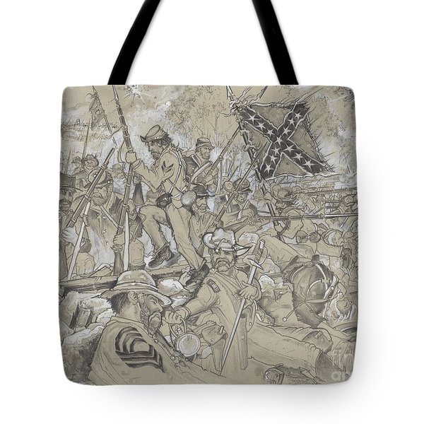 Over The Angle Tote Bag