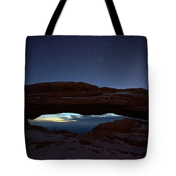 Tote Bag featuring the photograph Over The Arch by David Andersen
