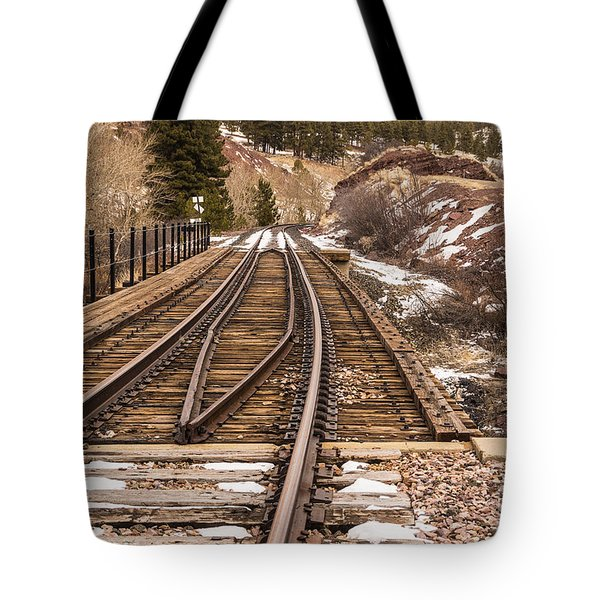 Over The Bridge Around The Bend Tote Bag