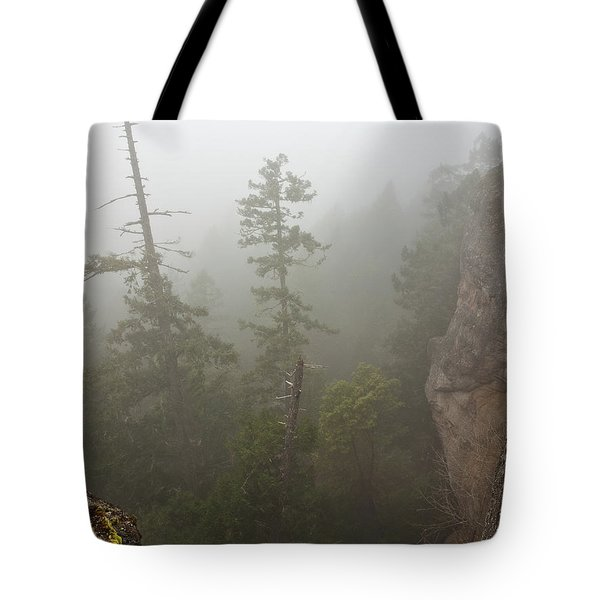 Over The Edge Tote Bag by Randy Hall
