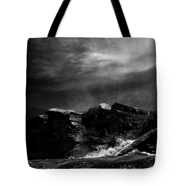 Over The Falls Backwards Tote Bag by Bob Orsillo