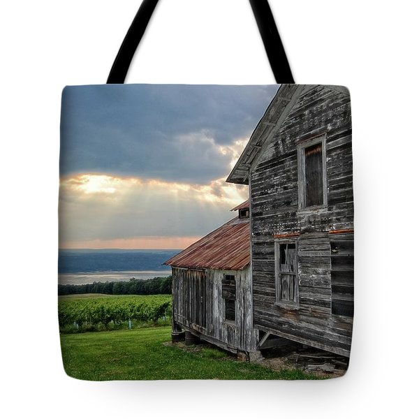 Over The Field Tote Bag
