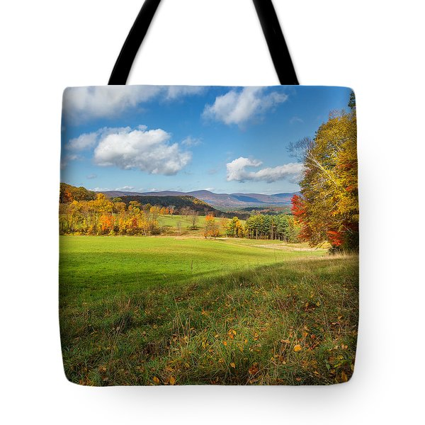 Over The Hills Square Tote Bag by Bill Wakeley