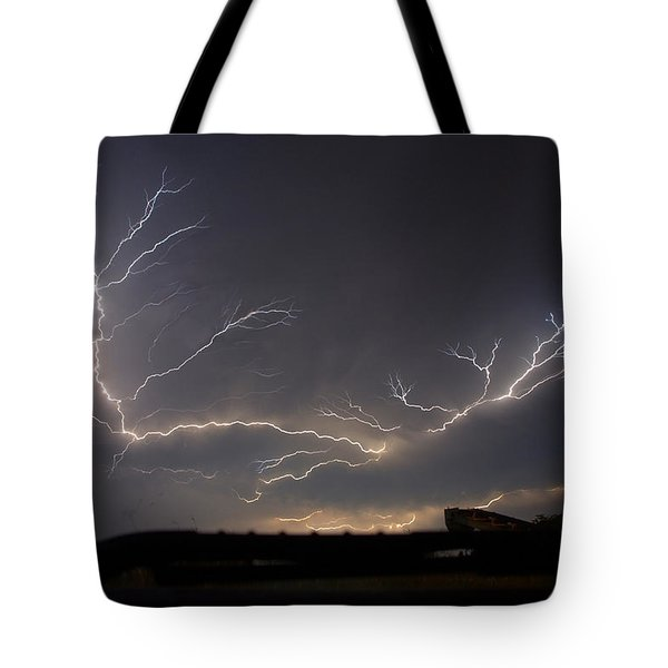 Tote Bag featuring the photograph Over The Lake by Charlotte Schafer