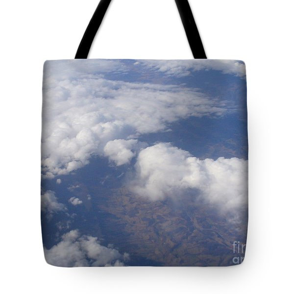 Over The Mountains Tote Bag by Lingfai Leung