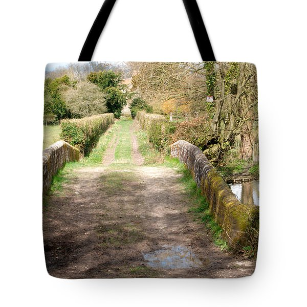 Tote Bag featuring the photograph Over The River by Wendy Wilton