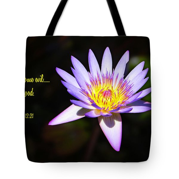 Overcome Evil Tote Bag
