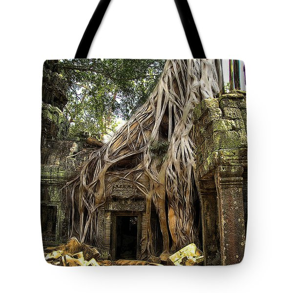 Overgrown Jungle Temple Tree  Tote Bag