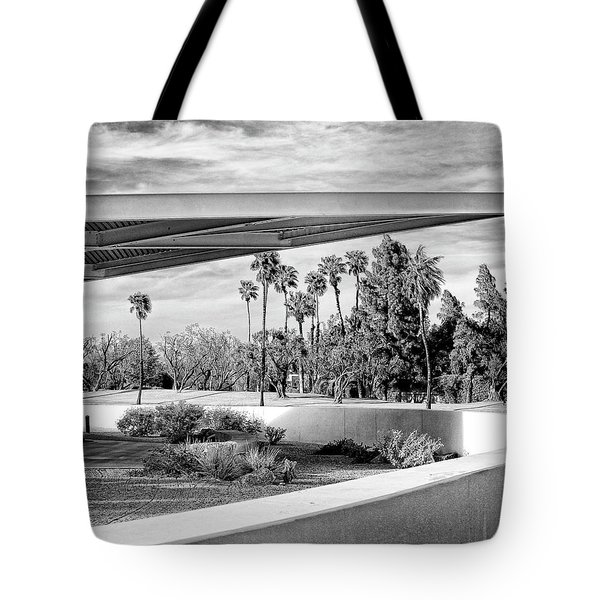 Overhang Bw Palm Springs Tote Bag by William Dey
