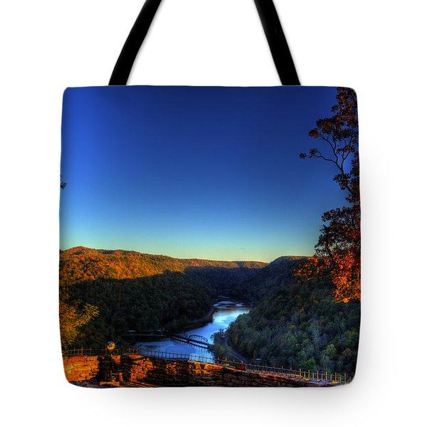 Tote Bag featuring the photograph Overlook In The Fall by Jonny D