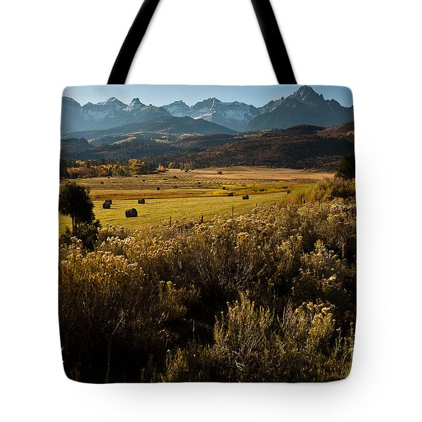 Overlook To Mt. Sneffles Tote Bag by Steven Reed