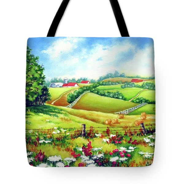 Overlooking The Meadow Tote Bag