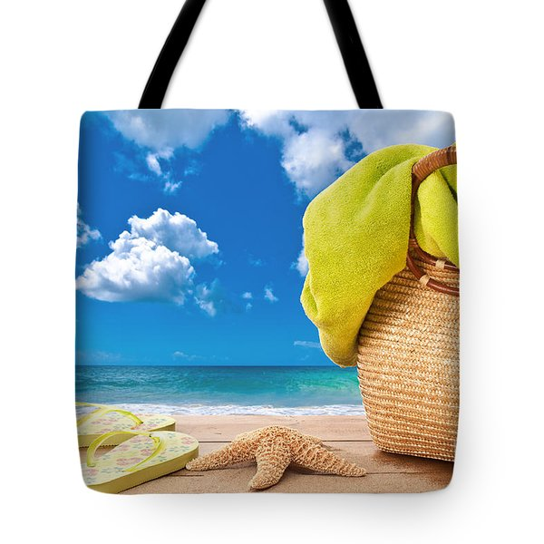 Overlooking The Ocean Tote Bag by Amanda Elwell