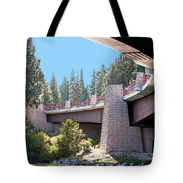 Healy Bridge Over Deschutes River Tote Bag by Gwyn Newcombe