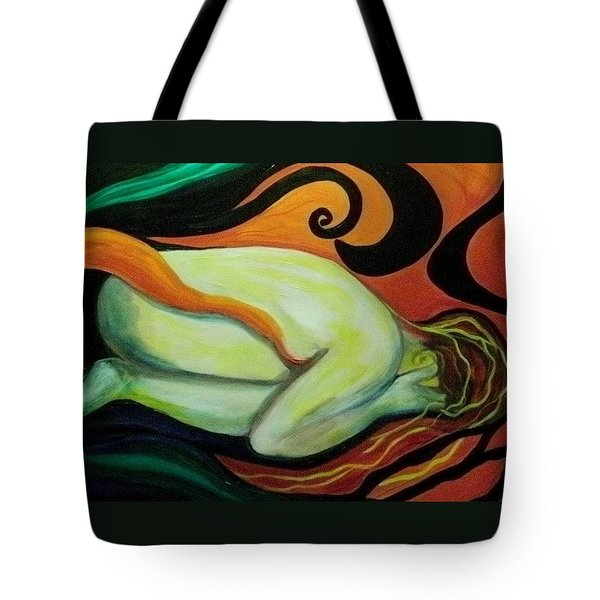 Overwhelmed Tote Bag by Carolyn LeGrand