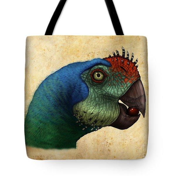 Oviraptor Head Detail Tote Bag by Alvaro Rozalen