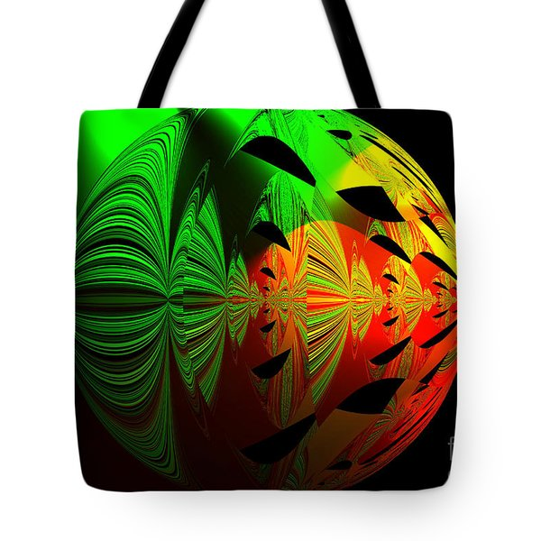 Art. Unigue Design.  Abstract Green Red And Black Tote Bag