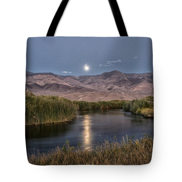 Owens River Moonrise Tote Bag