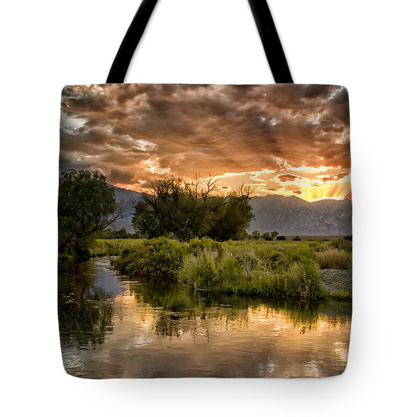 Owens River Sunset Tote Bag by Cat Connor