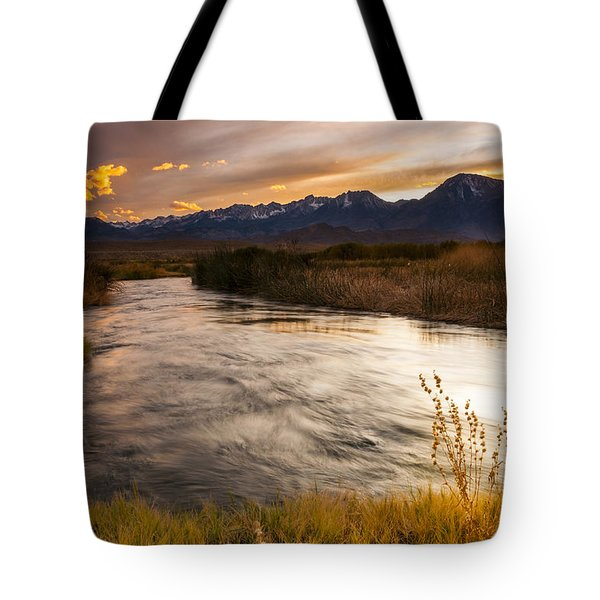 Owens River Sunset Tote Bag