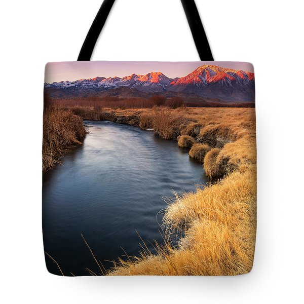 Owens River Tote Bag by Tassanee Angiolillo