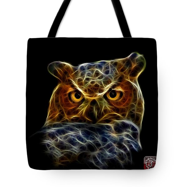 Tote Bag featuring the digital art Owl 4436 - F M by James Ahn