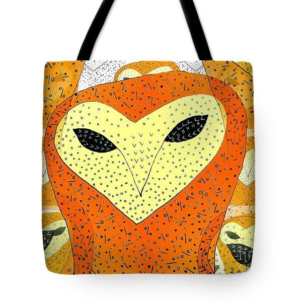 owl Tote Bag by Barbara Moignard