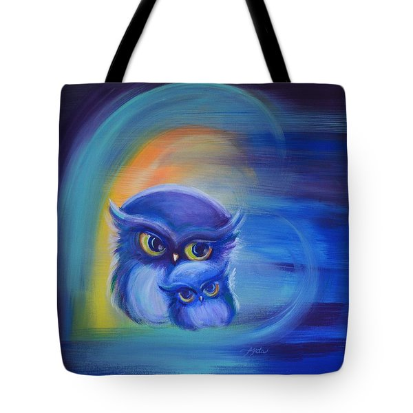 Tote Bag featuring the painting Owl Always Love You by Agata Lindquist