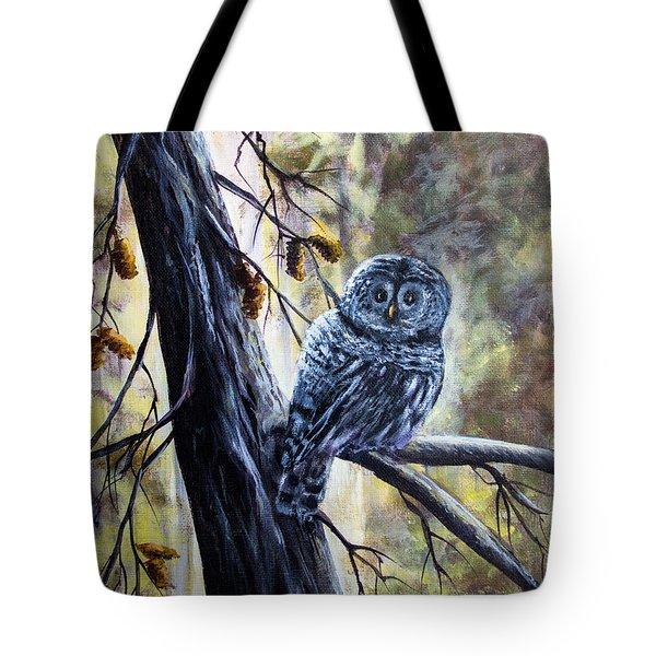 Owl Tote Bag by Bozena Zajaczkowska