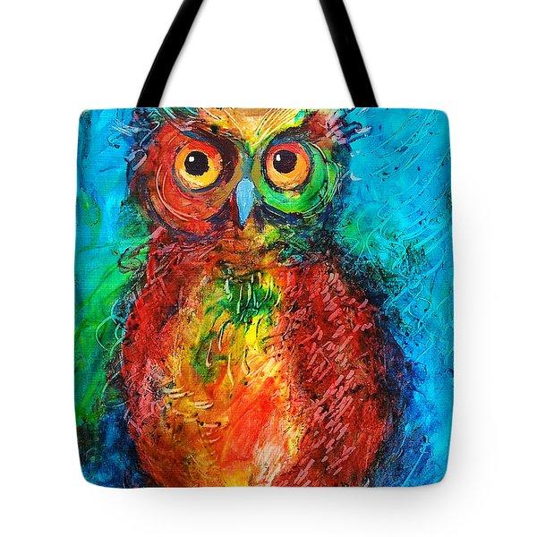 Owl In The Night Tote Bag by Faruk Koksal