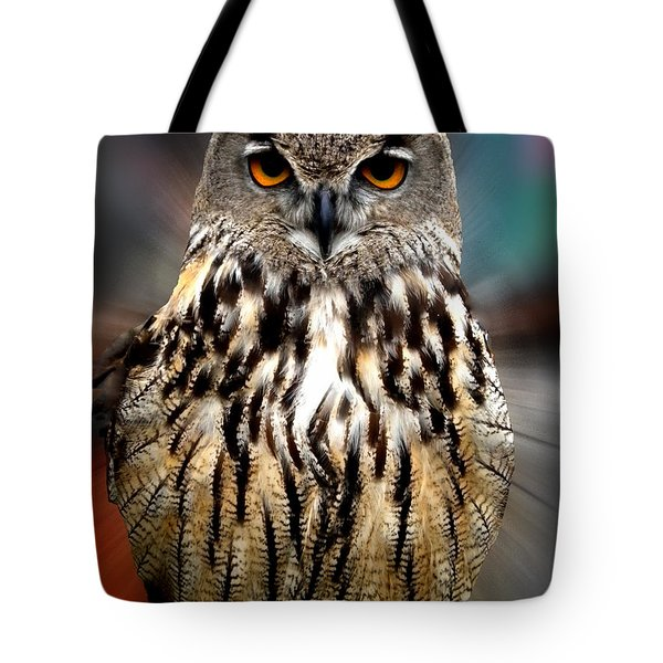 Owl Living In The Spanish Mountains Tote Bag