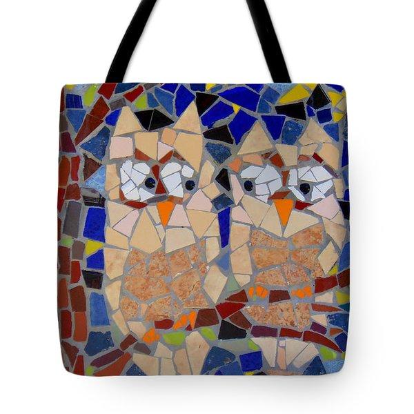 Owl Mosaic Tote Bag by Lou Ann Bagnall