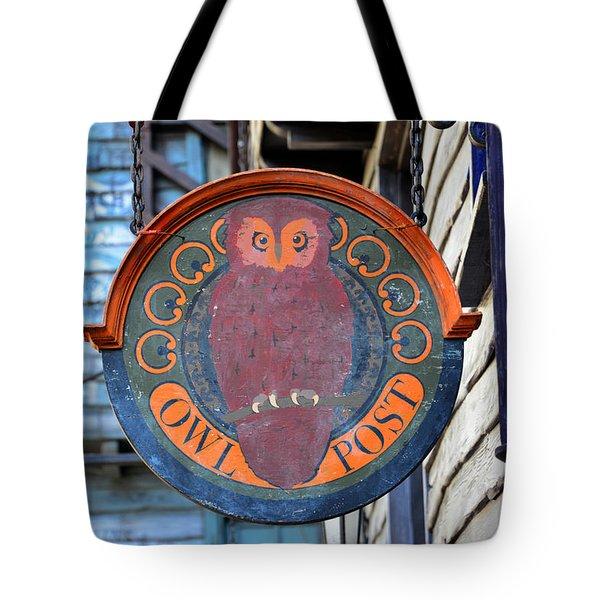 Owl Post  Tote Bag