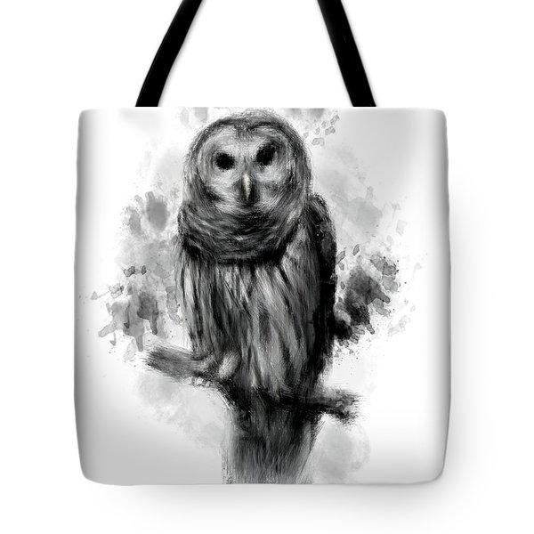 Owl's Portrait Tote Bag by Lourry Legarde