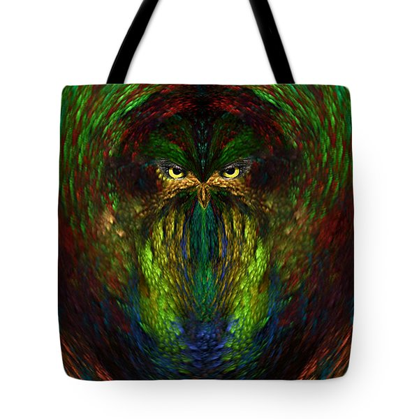 Tote Bag featuring the digital art Owly Spirit - Fantasy Art By Giada Rossi by Giada Rossi