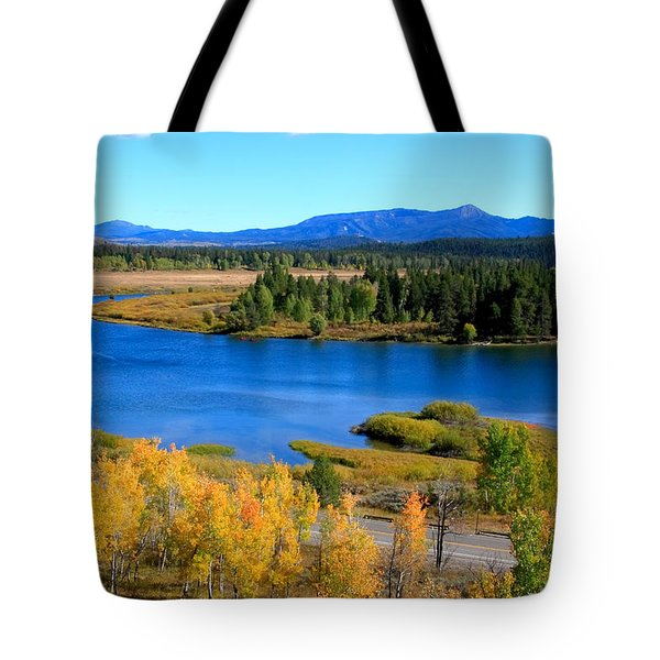 Oxbow Bend Grand Teton National Park Tote Bag by Aidan Moran