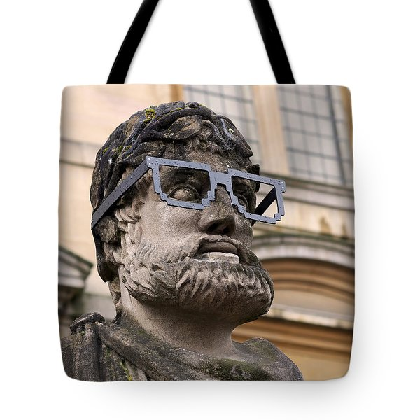 Tote Bag featuring the photograph Oxford Geek by Rona Black