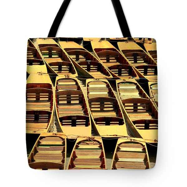 Oxford Punts Tote Bag by Linsey Williams