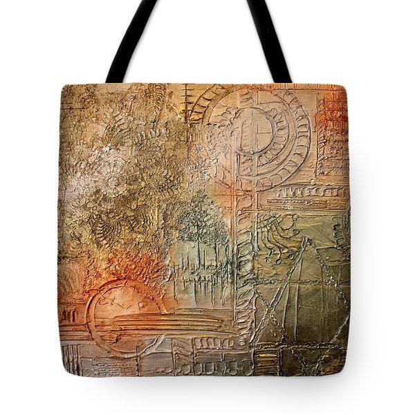 Oxidization Sacred Geometry Tote Bag