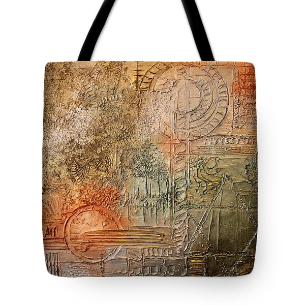 Oxidization Sacred Geometry Tote Bag by Patricia Lintner