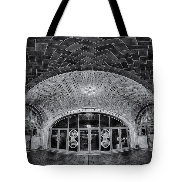 Oyster Bar Bw Tote Bag by Susan Candelario