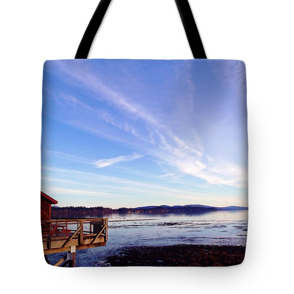 Oyster Flats Tote Bag by Pamela Patch
