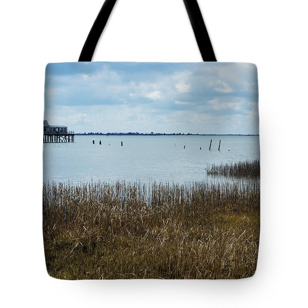 Oyster Shack And Tall Grass Tote Bag by Photographic Arts And Design Studio